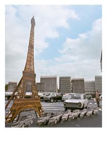 Carte postale inspirée par PlayTime de Jacques Tati © Tati Trafic 2020