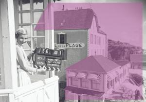 Carte postale inspirée par Les vacances de Monsieur Hulot de Jacques Tati © TatiTrafic 2020